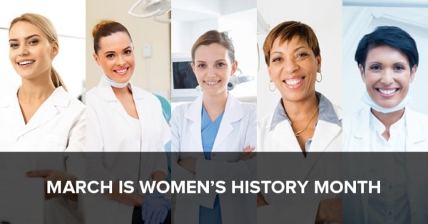 Image of female dentists in honor of Women's History Month.