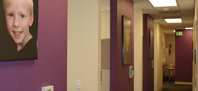 Hallway of dental office Michael T. Bodensteiner, DDS in Visalia, CA