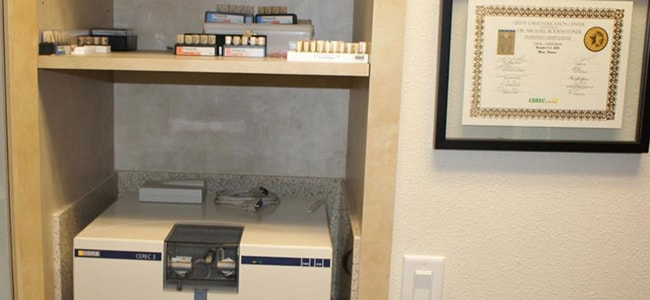 Milling Technology in dental office Michael T. Bodensteiner, DDS in Visalia, CA