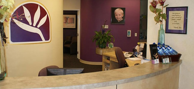 The reception desk of Michael T. Bodensteiner, DDS, a dentist office in Visalia, CA