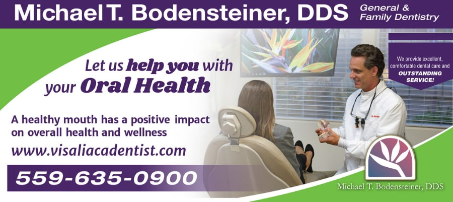 Our bus advertisement around town promoting Dr. Bodensteiner helping you with your oral health because a healthy mouth has a positive impact on your overall health and wellness.